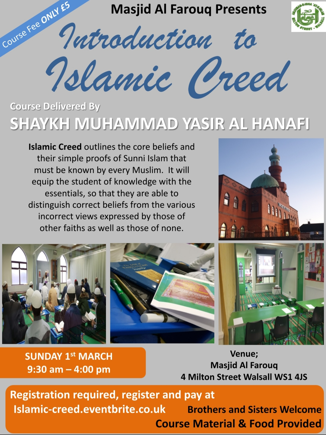 Intro to Islamic Creed by Shaykh Muhammad Yasir Al Hanafi